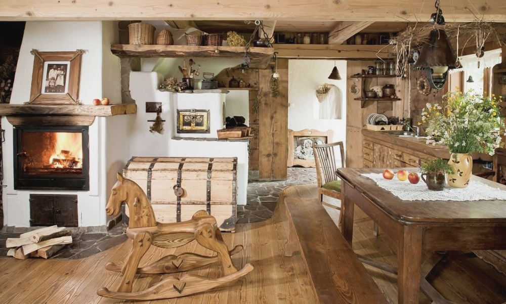 Мебель и интерьер в русском кантри-стиле